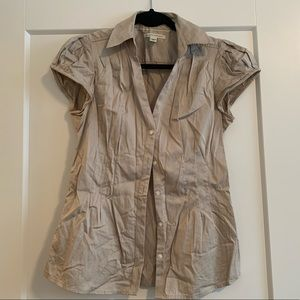 Banana republic short sleeve button up blouse